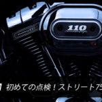 【バイク】初めての点検!ストリート750 レポ