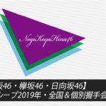 乃木坂46・欅坂46・日向坂46】坂道グループ2019年・全国&個別握手会日程一覧
