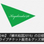 【欅坂46】『欅共和国2019』の日程は?ライブチケット販売&グッズ情報まとめ