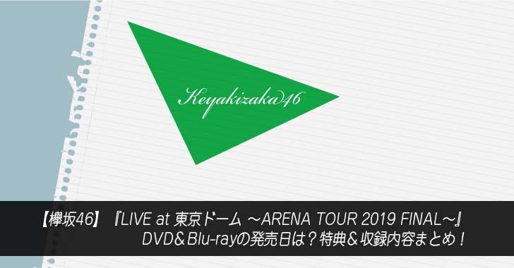 【欅坂46】『LIVE at 東京ドーム ~ARENA TOUR 2019 FINAL~』DVD&Blu-rayの発売日は?特典&収録内容まとめ!